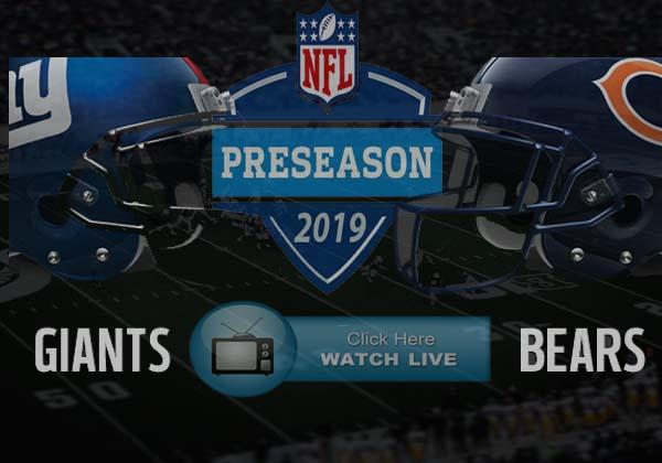 Chicago Bears vs New York Giants Live Stream Free