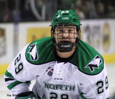 UND's Jordan Kawaguchi Set to Join 100-Point Club
