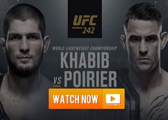 UFC 242 Khabib vs Poirier live streaming reddit