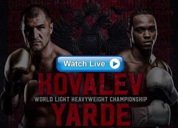 Kovalev vs Yarde live streaming reddit