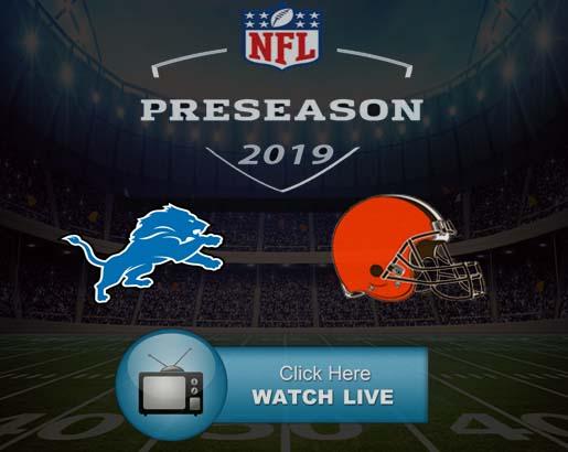 Lions vs Browns Live Stream