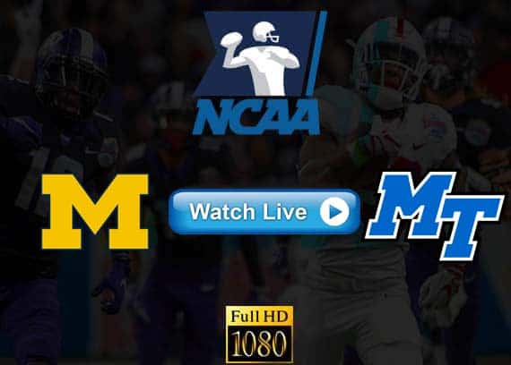 Michigan vs Middle Tennessee State live streaming reddit