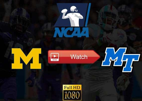 Michigan vs Middle Tennessee State live stream reddit