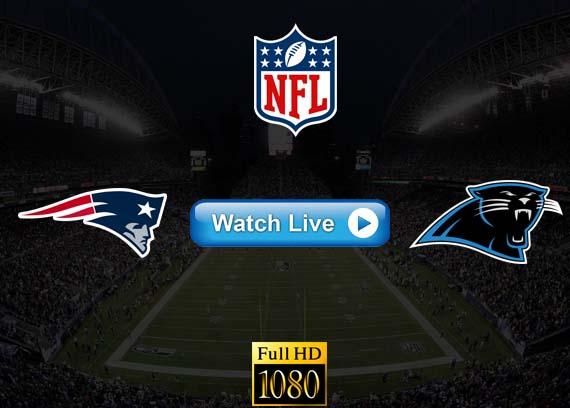 Patriots vs Panthers live streaming reddit