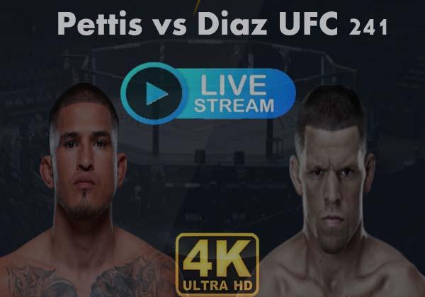 Nate Diaz vs Anthony Pettis Live Stream