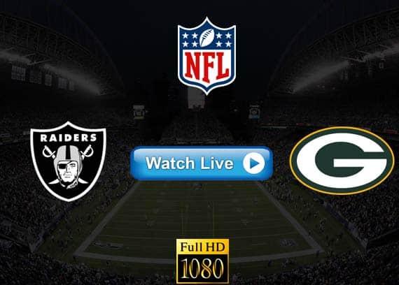 Raiders vs Packers live streaming reddit