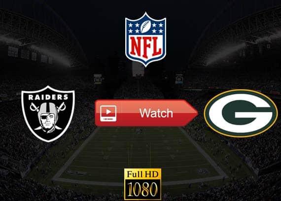 Raiders vs Packers live stream reddit