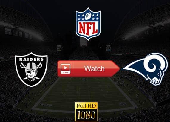 Raiders vs Rams live stream reddit