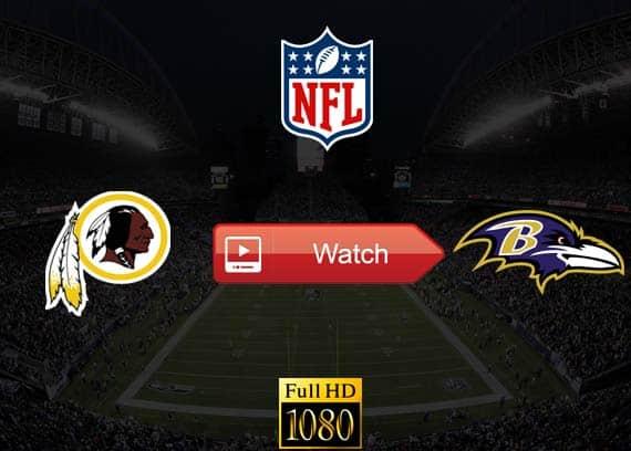 Redskins vs Ravens live stream reddit