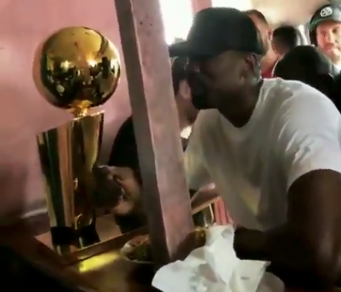 Serge Ibaka brings Larry O'Brien Trophy home with him to the Congo (Video)
