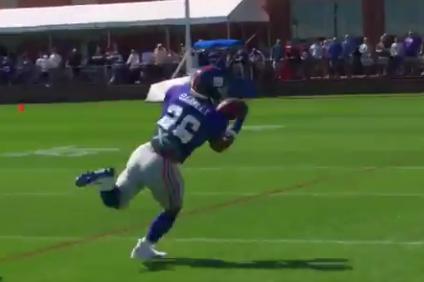 Watch: Saquon Barkley shows off insane athleticism, sick hands in making amazing TD catch