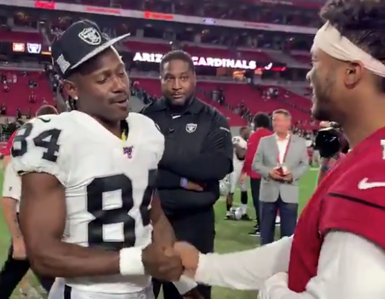 Watch: Antonio Brown has high praise for Kyler Murray on field after game
