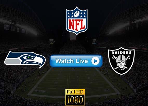 Seahawks vs Raiders live streaming reddit