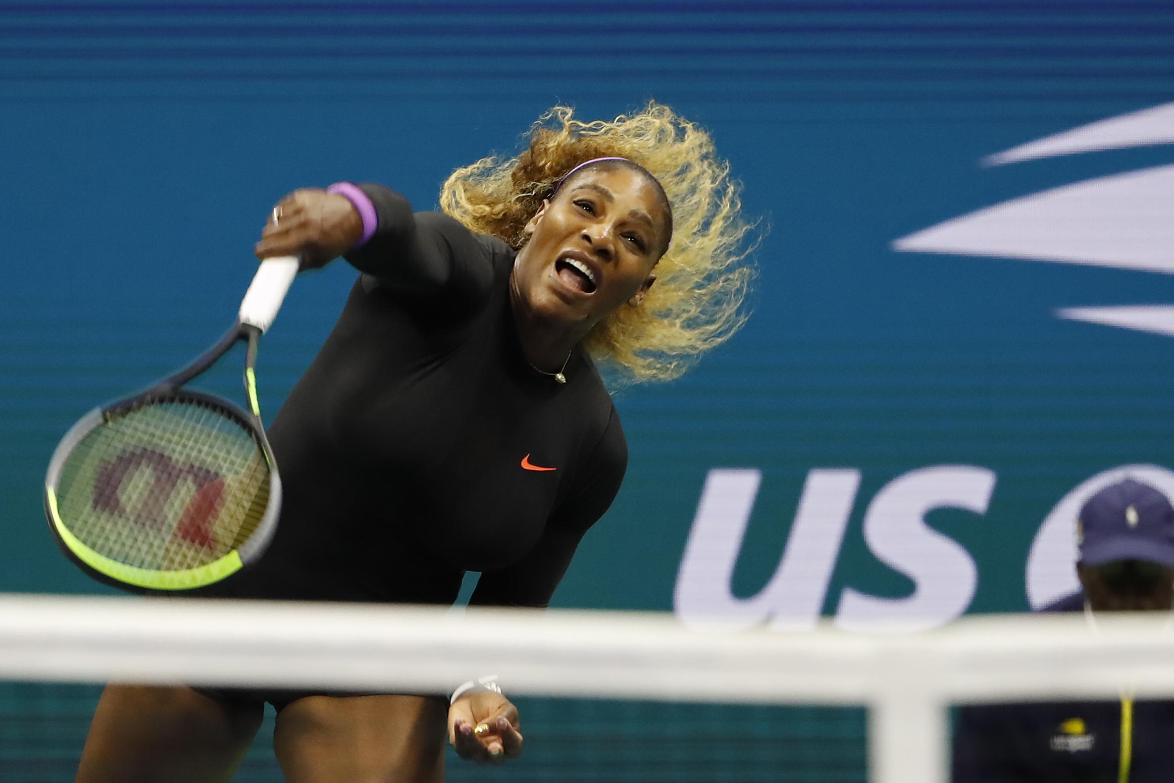 Serena Williams beats Maria Sharapova in a battle of the titans on the WTA Tour