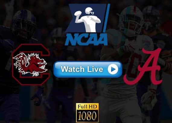 South Carolina vs Alabama live streaming reddit