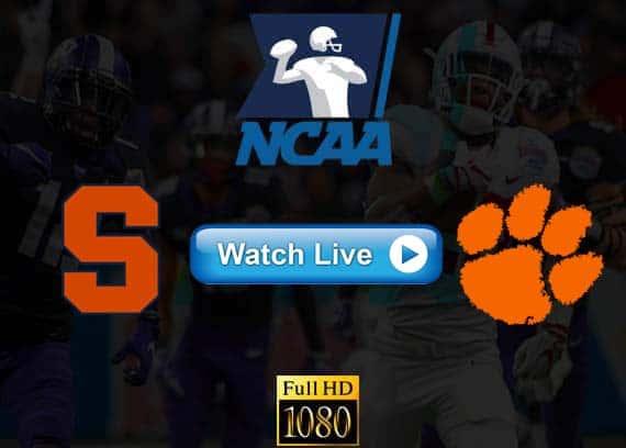 Clemson vs Syracuse live streaming reddit