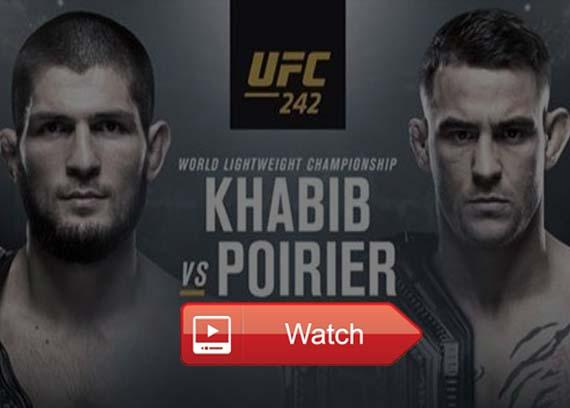 UFC 242 Khabib vs Poirier live stream reddit