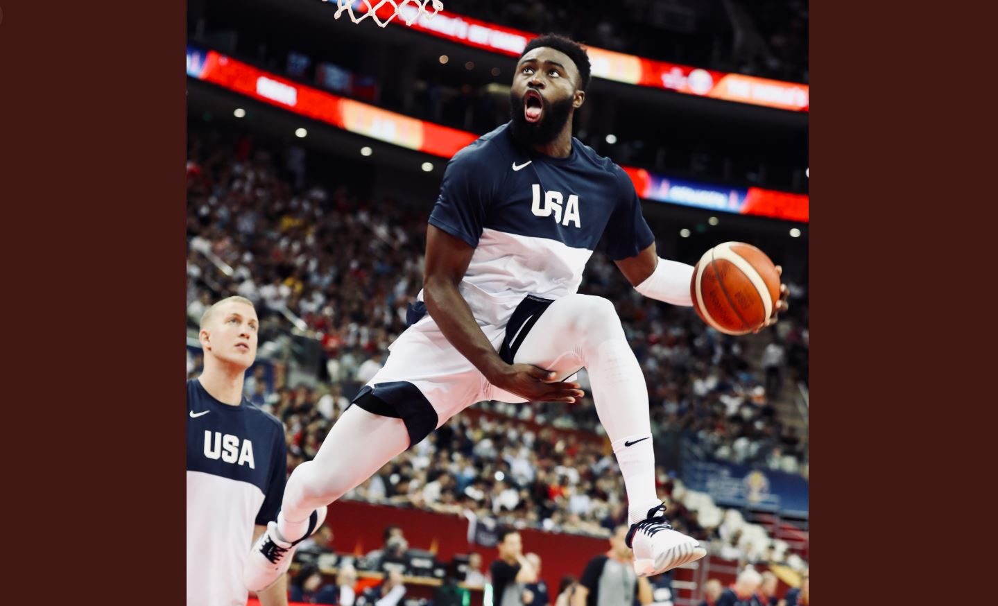 Jaylen Brown dunks all over Japan in Team USA blowout