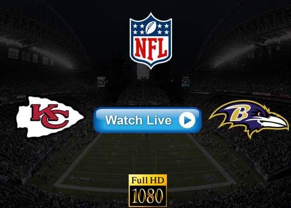 Chiefs vs Ravens live streaming reddit