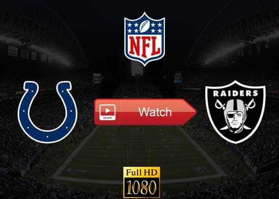 Colts vs Raiders live stream reddit