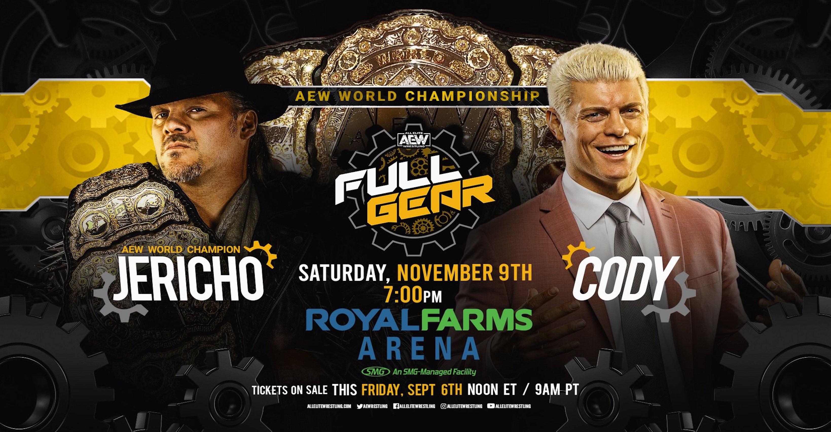 Chris Jericho Vs. Cody Rhodes World Title Match Set For AEW 'Full Gear'