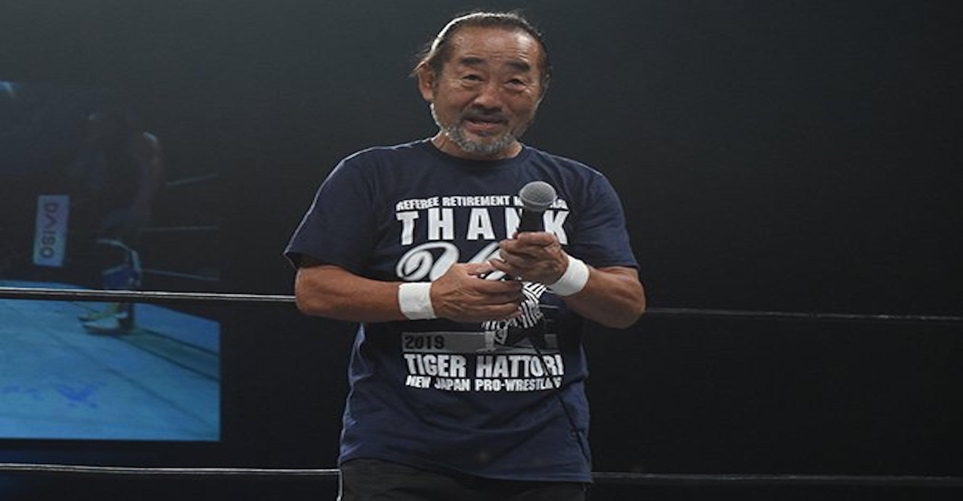 Legendary New Japan Referee Officiates His Final U.S. Match