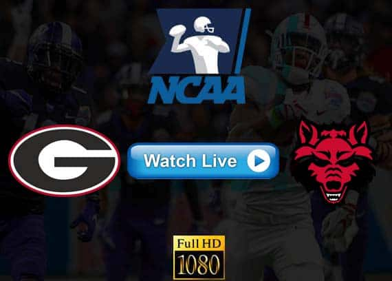 Georgia vs Arkansas State live streaming reddit