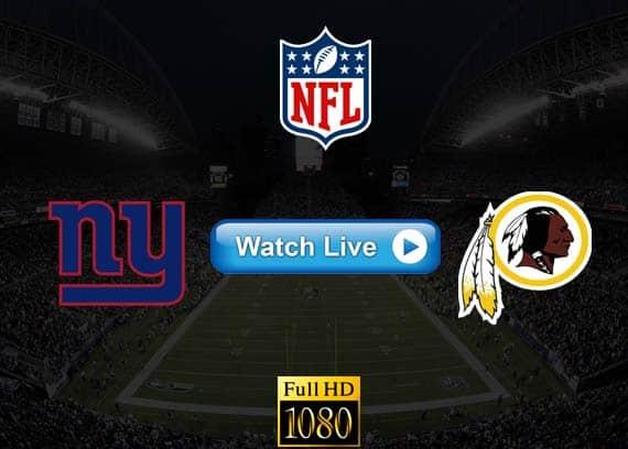 Giants vs Redskins live streaming reddit