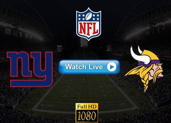 Giants vs Vikings live streaming reddit