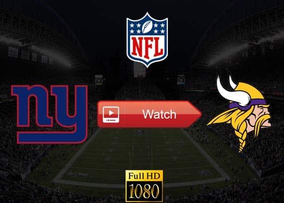 Giants vs Vikings live stream reddit