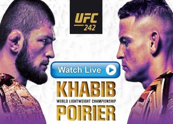 Khabib vs Poirier UFC 242 live streaming reddit