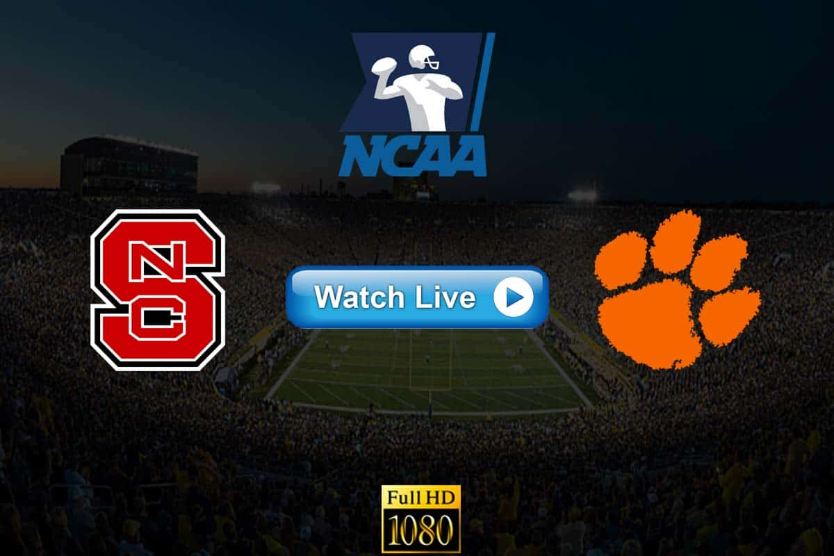 NC State vs Clemson live streaming reddit
