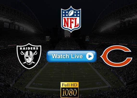 Raiders vs Bears live streaming reddit