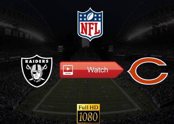 Raiders vs Bears live stream reddit