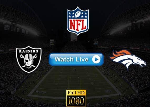Raiders vs Broncos live streaming reddit