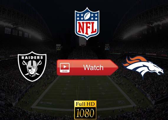Raiders vs Broncos live stream reddit
