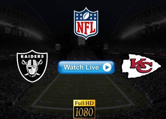 Raiders vs Chiefs live streaming reddit