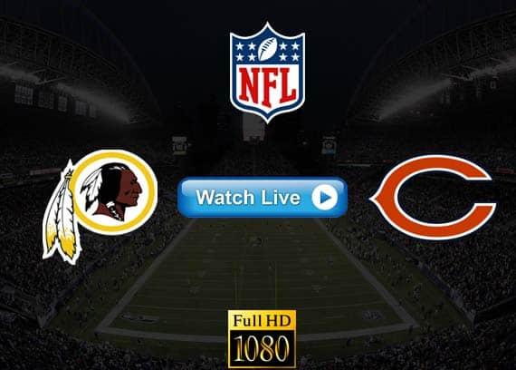 Redskins vs Bears live streaming reddit