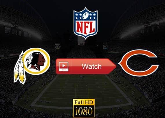 Redskins vs Bears live stream reddit