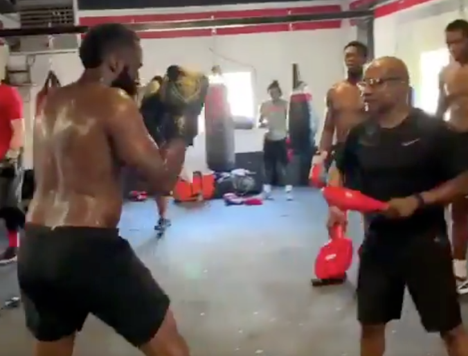 Look: James Harden, Rockets players endure boxing workout to prepare for season