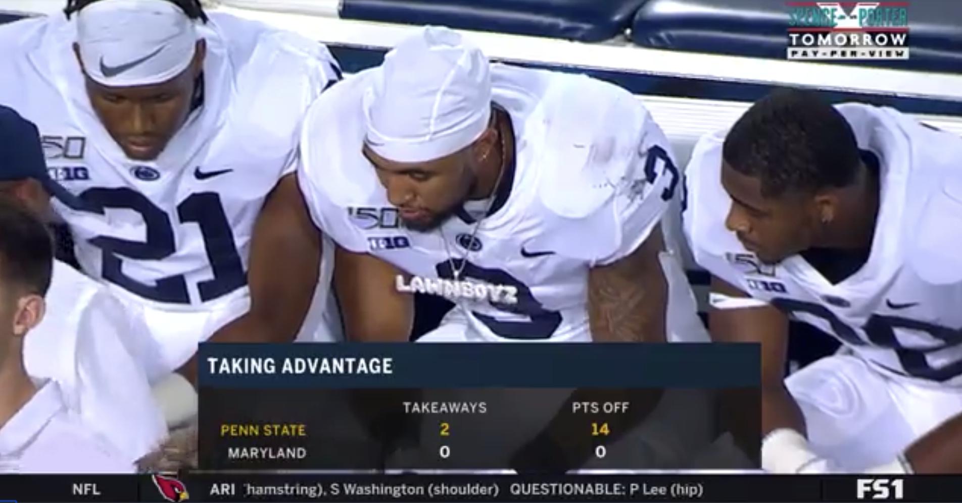 LOOK: Penn State running backs have a Lawn Boyz chain