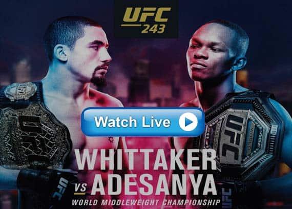 UFC 243 live stream reddit