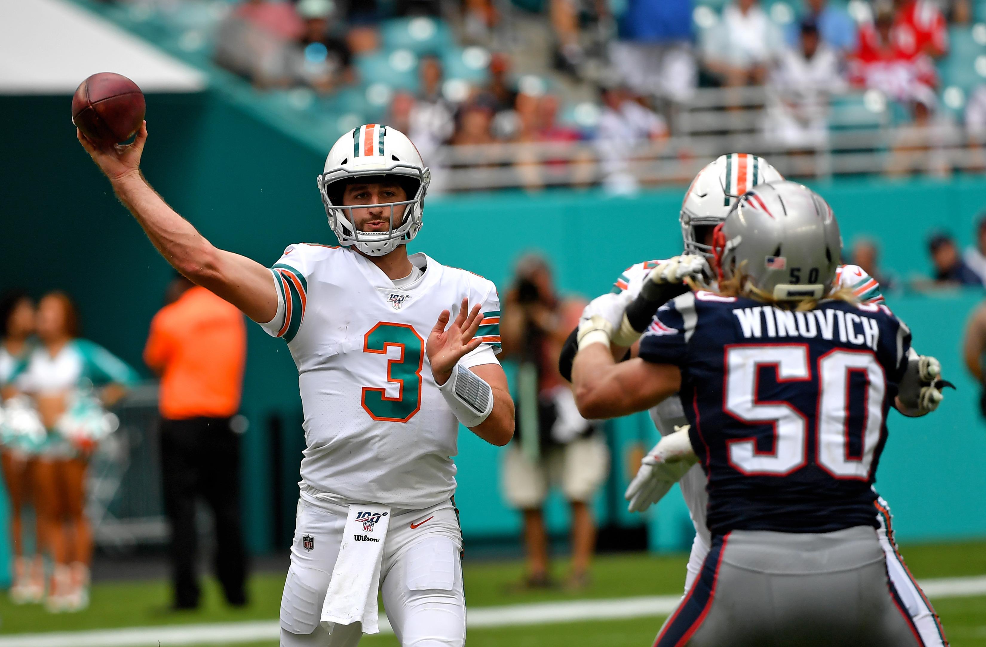 Dolphins rumors indicate team may start Josh Rosen at quarterback next week