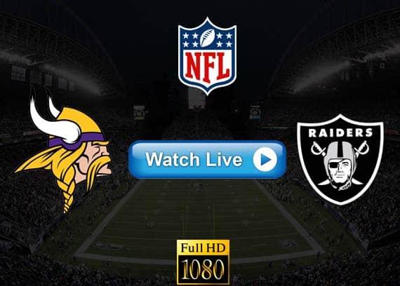 Vikings vs Raiders live streaming reddit