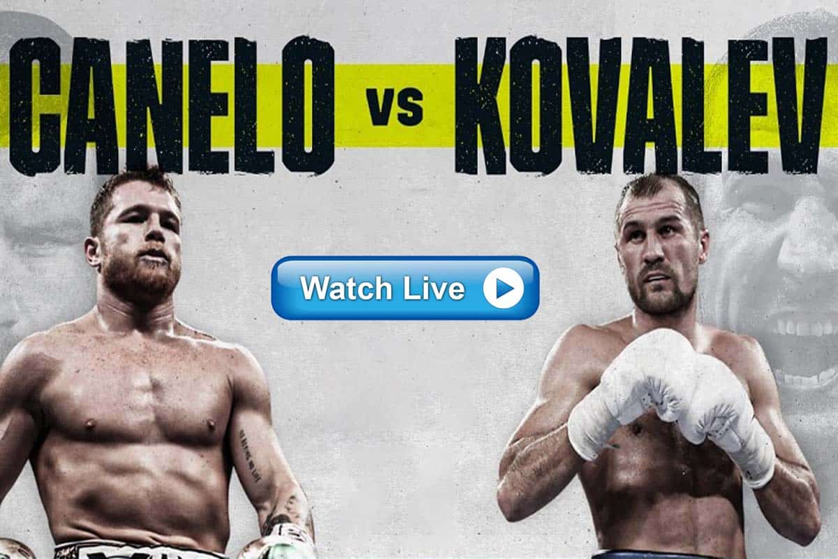 Canelo Alvarez vs Sergey Kovalev live stream reddit