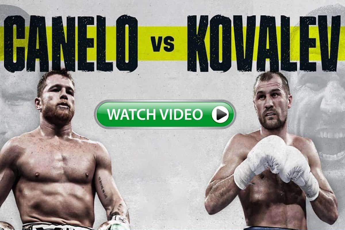 Canelo vs Kovalev live stream reddit