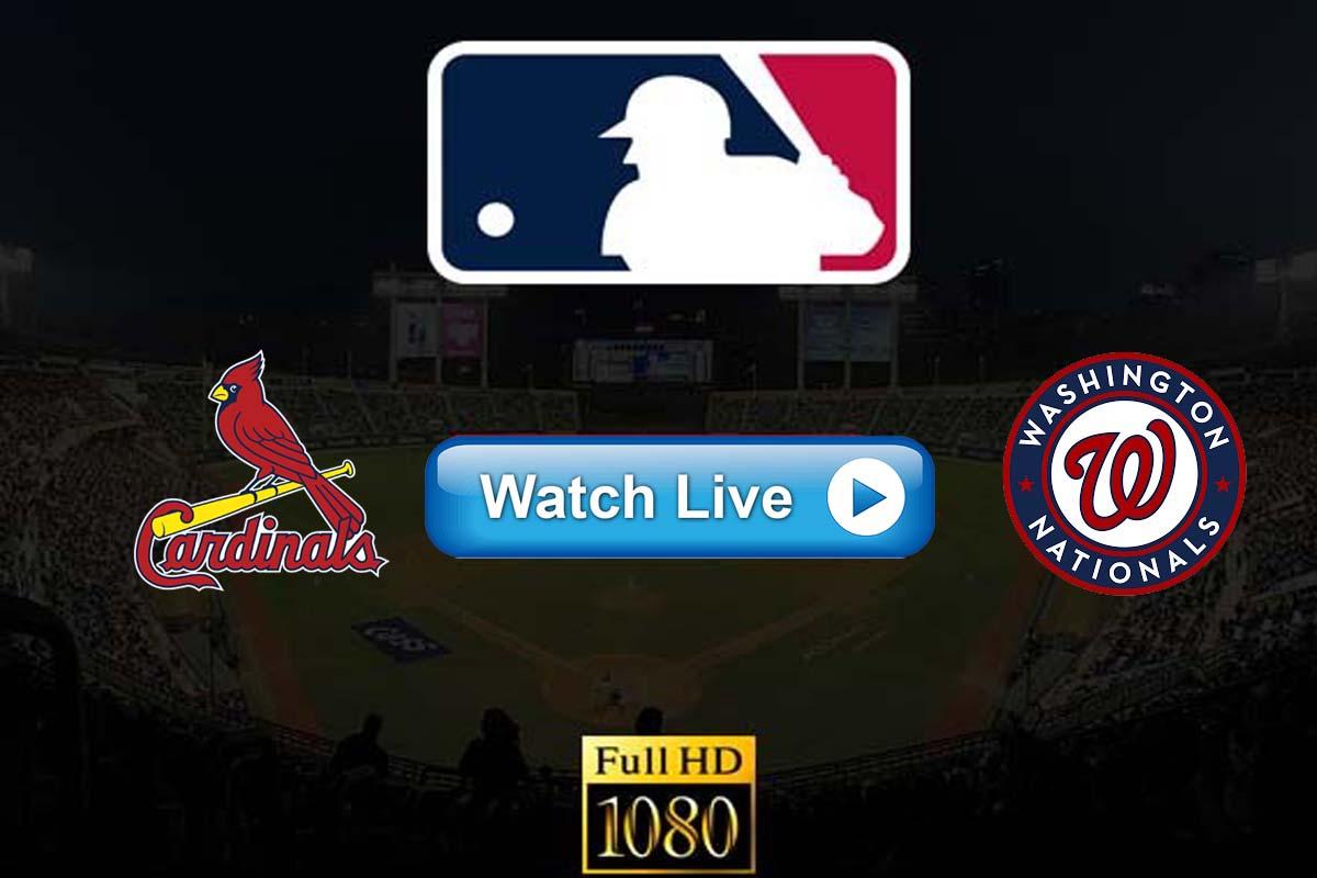 Cardinals vs Nationals live streaming reddit