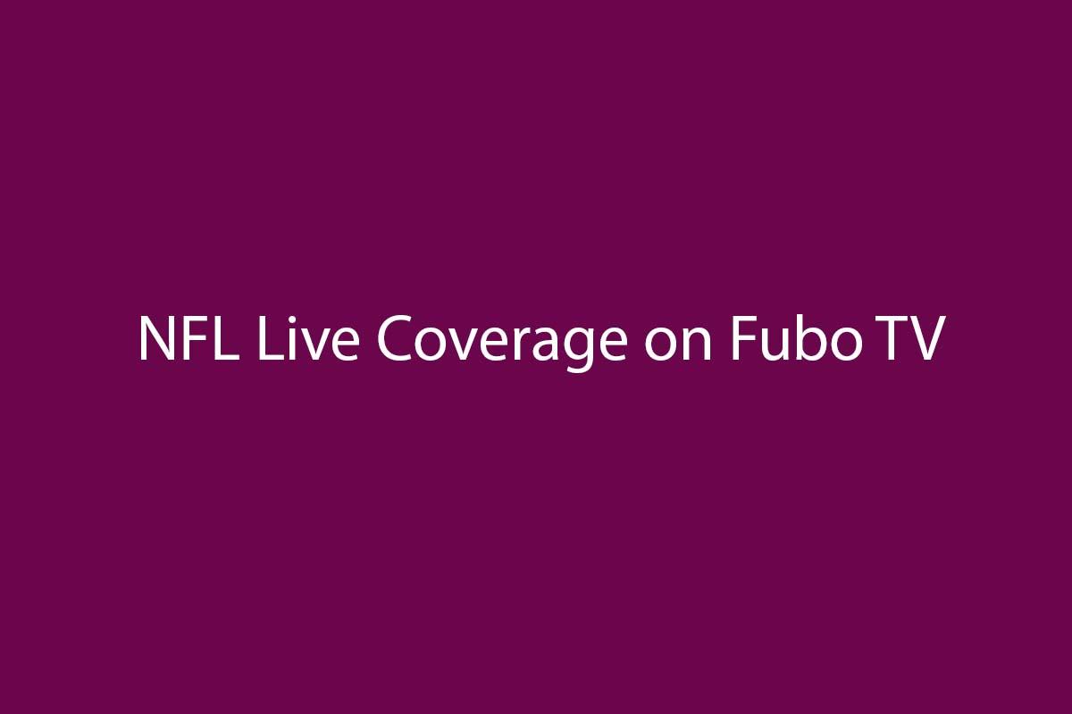 FuboTV NFL live