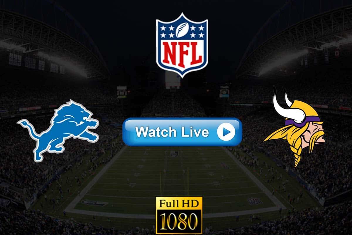 Lions vs Vikings live streaming reddit
