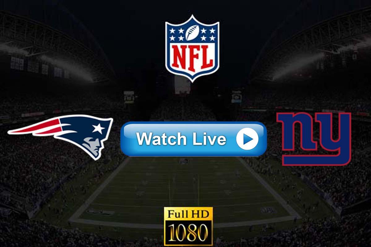 Patriots vs Giants live streaming reddit